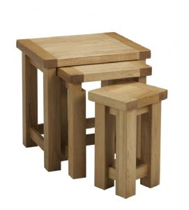 Charltons Bretagne Solid Oak Small Nest Of Tables